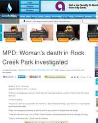 MPD Woman death in Rock Creek Park: CapitalBay